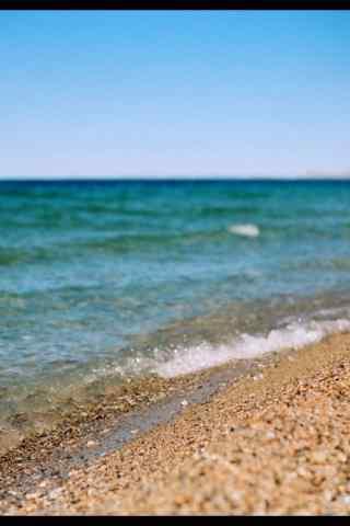 纳木错小清新浅滩风景图片手机壁纸