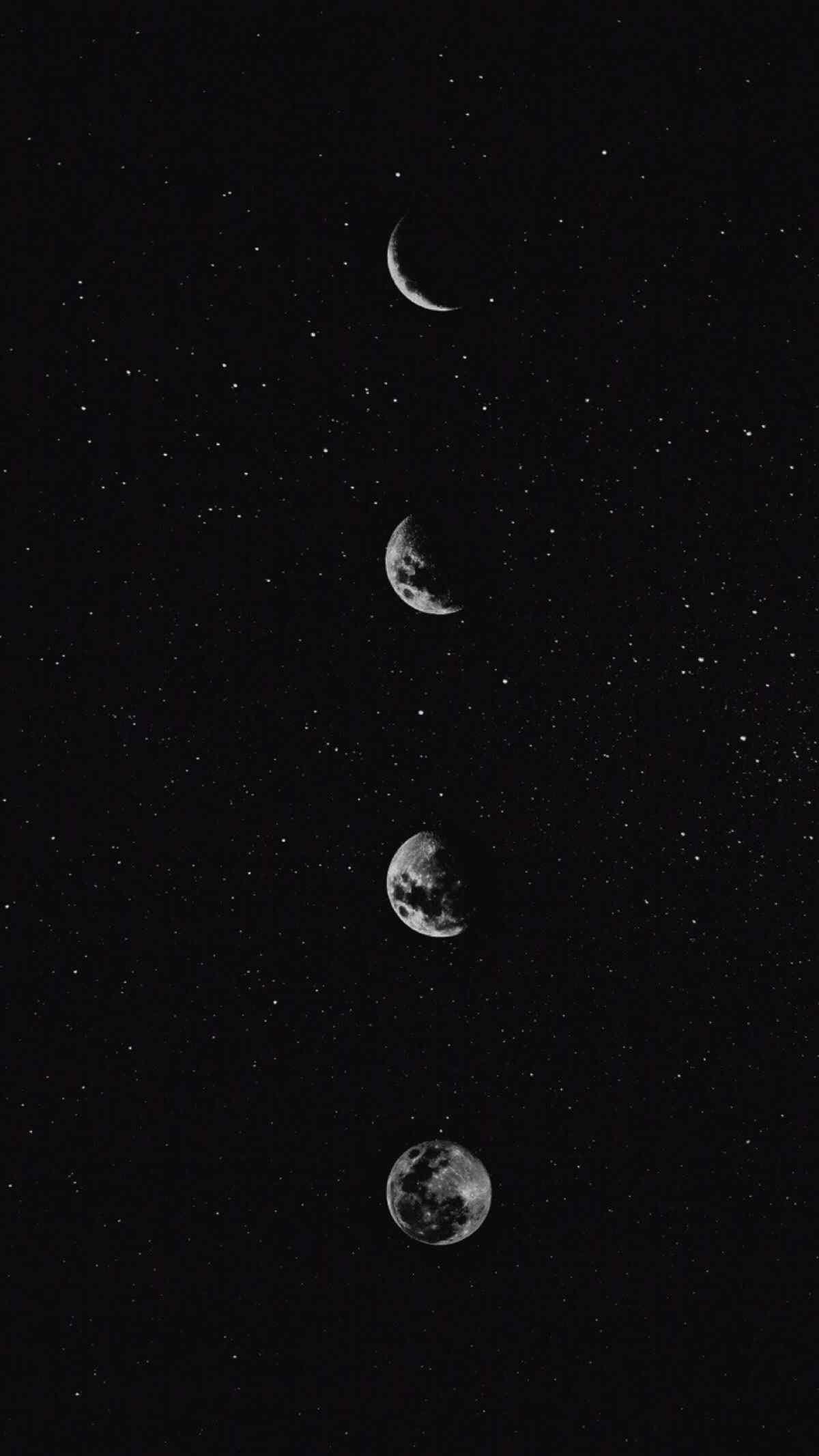 月亮阴晴变化图片手机壁纸