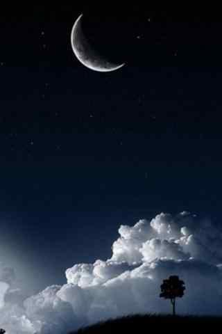 唯美手绘月亮图片
