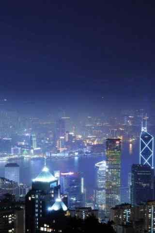 城市夜景深夜风景手机壁纸