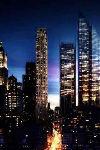静谧的城市夜景手机壁纸