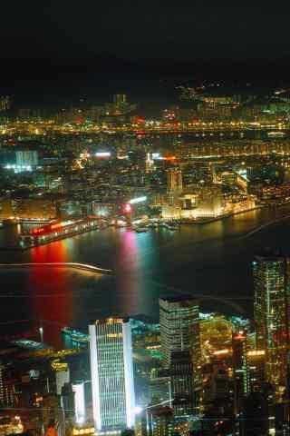 城市夜景之璀璨灯光手机壁纸