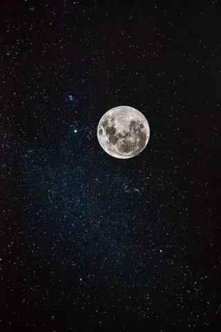 星空中的满月手机壁纸