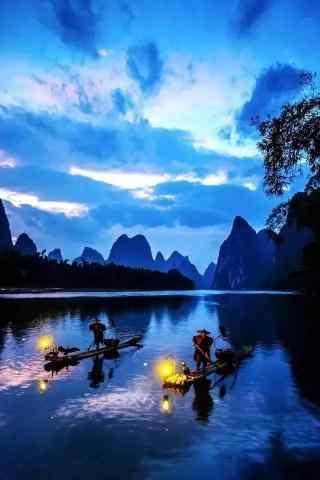 唯美的桂林漓江摄影手机壁纸