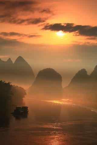 唯美的桂林漓江风景手机壁纸