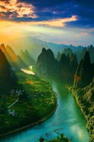 美丽的桂林漓江风景手机壁纸