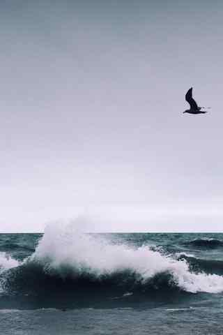 文艺的海浪风景摄影手机壁纸