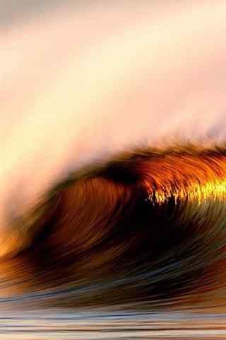 壮阔的海浪风景摄影手机壁纸