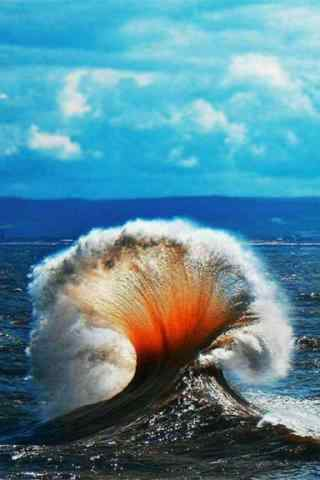 酷炫的海浪风景手机壁纸