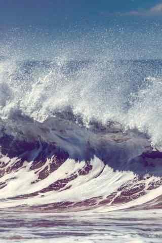 海浪图片手机壁纸