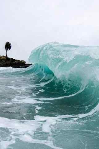 海浪风景摄影手机壁纸