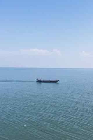 小清新洞庭湖泛舟风景手机壁纸