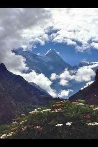 南迦巴瓦峰山峰手