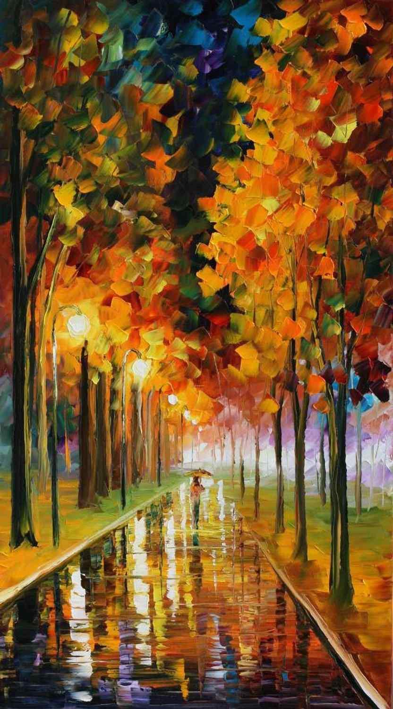 好看的黄色枫叶风景手机壁纸