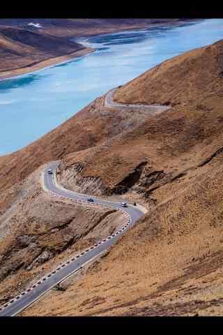 蔚蓝的圣湖羊卓雍措手机壁纸