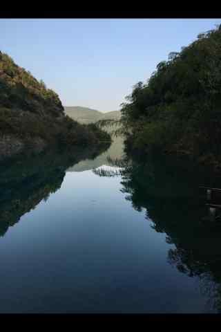 莫干山河流风景手