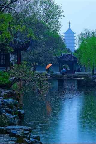 唯美烟雨江南风景手机壁纸
