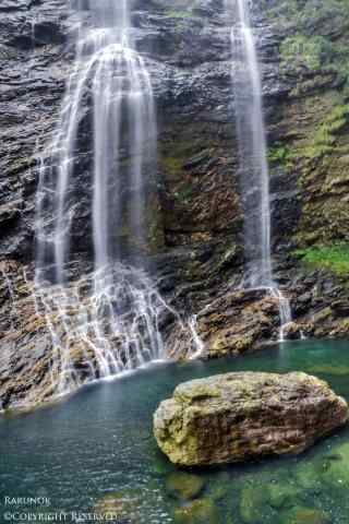 唯美壮丽庐山瀑布手机壁纸
