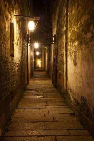 朦胧唯美的乌镇夜景手机壁纸