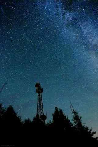 雾灵山夜景之星空