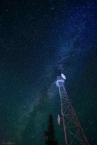 雾灵山星空手机壁