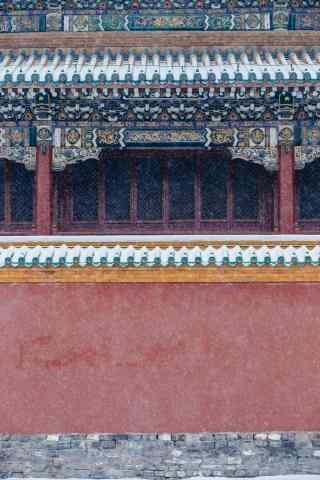 唯美故宫雪景摄影手机壁纸