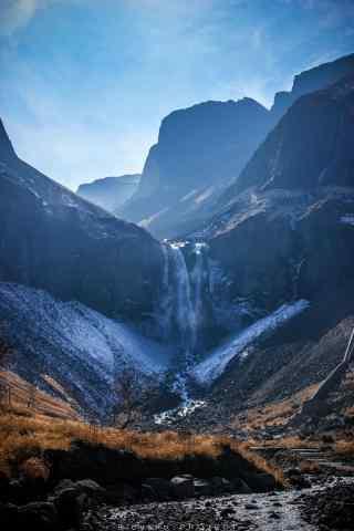 小清新长白山山脉风景手机壁纸