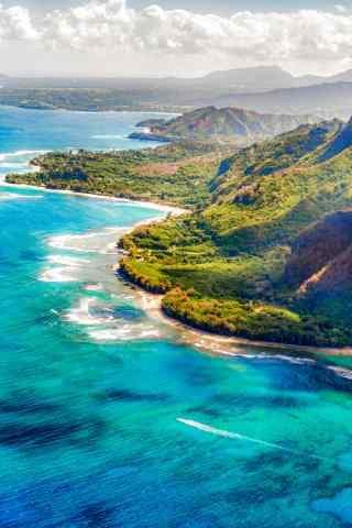 小清新夏威夷海边风景手机壁纸