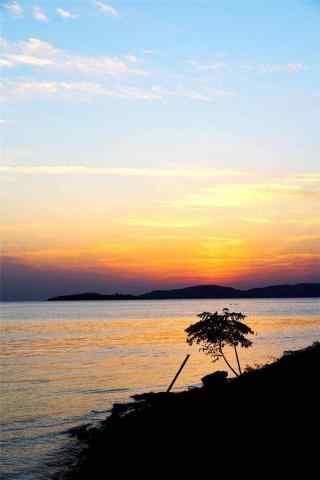 太湖黄昏时分唯美手机壁纸