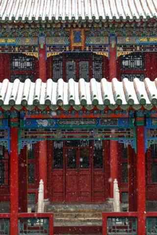 北京故宫唯美雪景手机壁纸