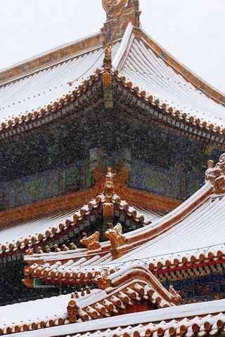 北京故宫雪景图片手机壁纸