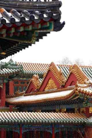 北京故宫雪景手机壁纸