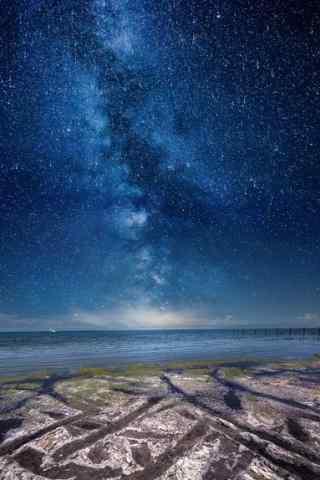 青海湖唯美星空手