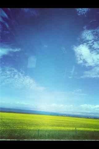 小清新青海湖风景