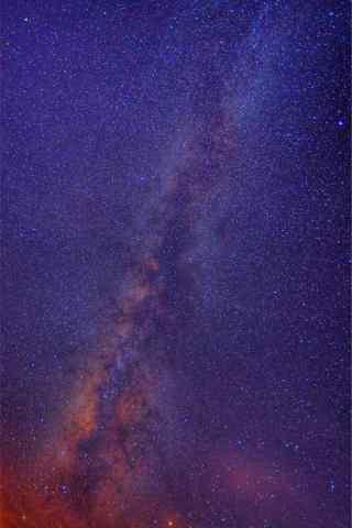 华山唯美的银河手机壁纸