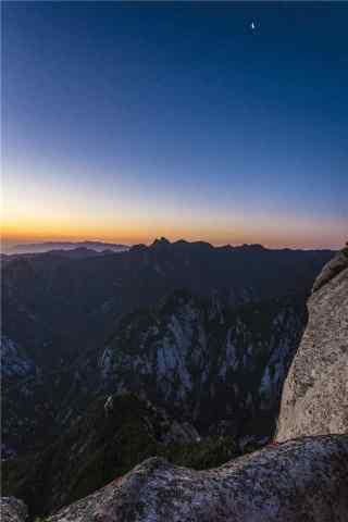 华山唯美夜景手机壁纸