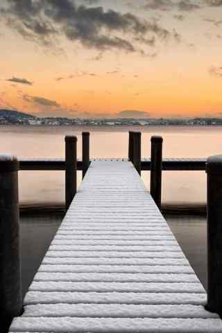 最美风景之码头手机壁纸
