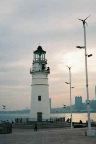夏日避暑城市之青岛海边风景手机壁纸