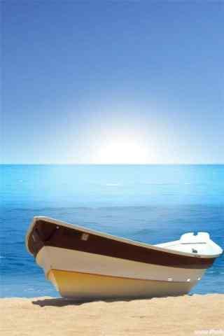 夏日海邊清涼(liang)風景手機壁紙