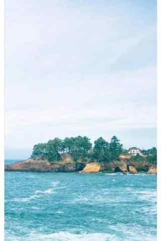 夏日小清新海邊風景手機鎖屏