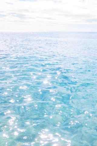 夏日清涼(liang)小清新海邊風景手機壁紙
