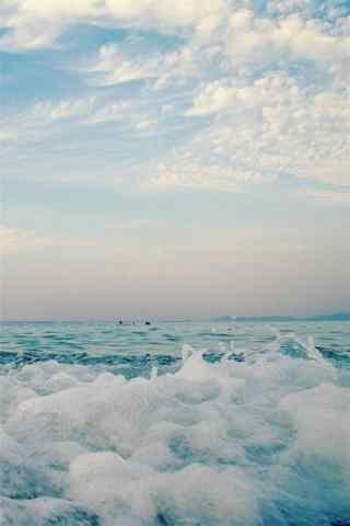 小清新夏日海邊清涼(liang)風景手機壁紙