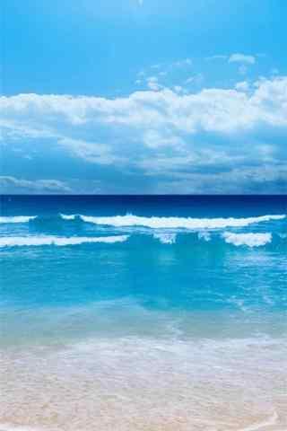 涼(liang)爽的夏日海邊風景手機壁紙