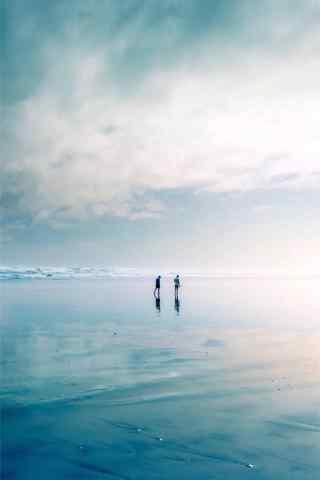 小清新海邊風景手機壁紙