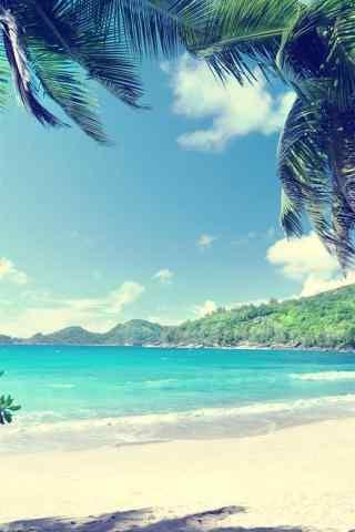 夏日小清新海邊風景手機壁紙