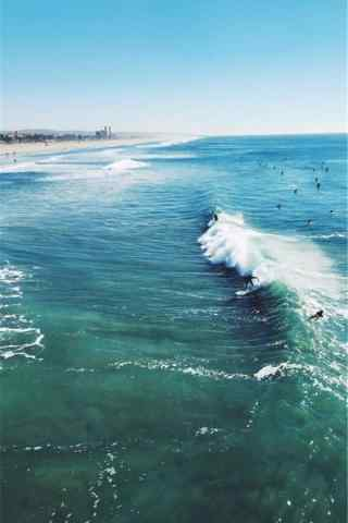 夏日清凉的海洋风景手机壁纸