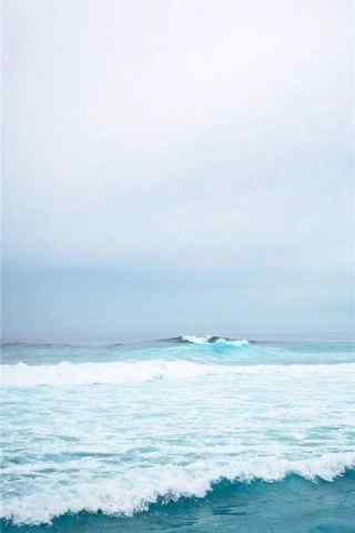 夏日清凉之壮丽的大海手机壁纸
