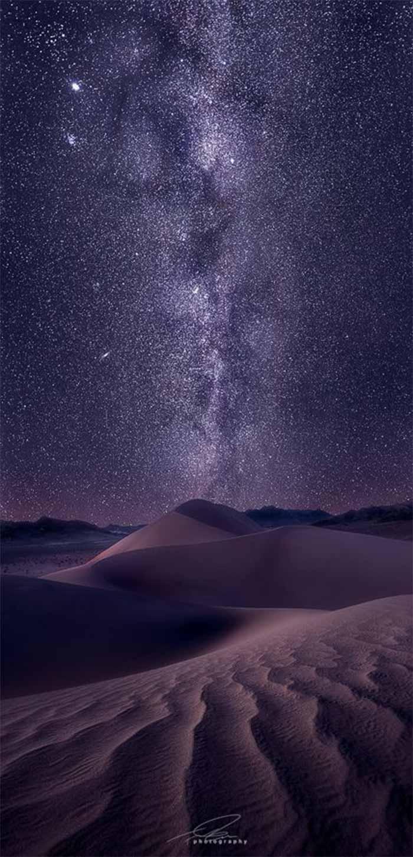 戈壁沙漠高清星空手机壁纸