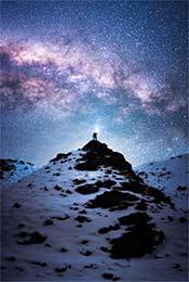 高原雪山高清星空手机壁纸图片
