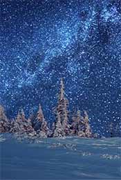 雪地星空高清手机锁屏背景壁纸